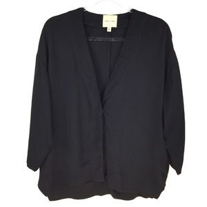 UO Silence + Noise Black One Button Jacket Small